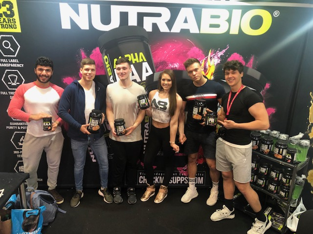 FIBO Power 2019 - NutraBio fans in Germany with Sarah Hunsberger