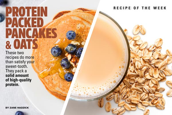Overnight Cold Oats and Blueberry Protein Pancakes