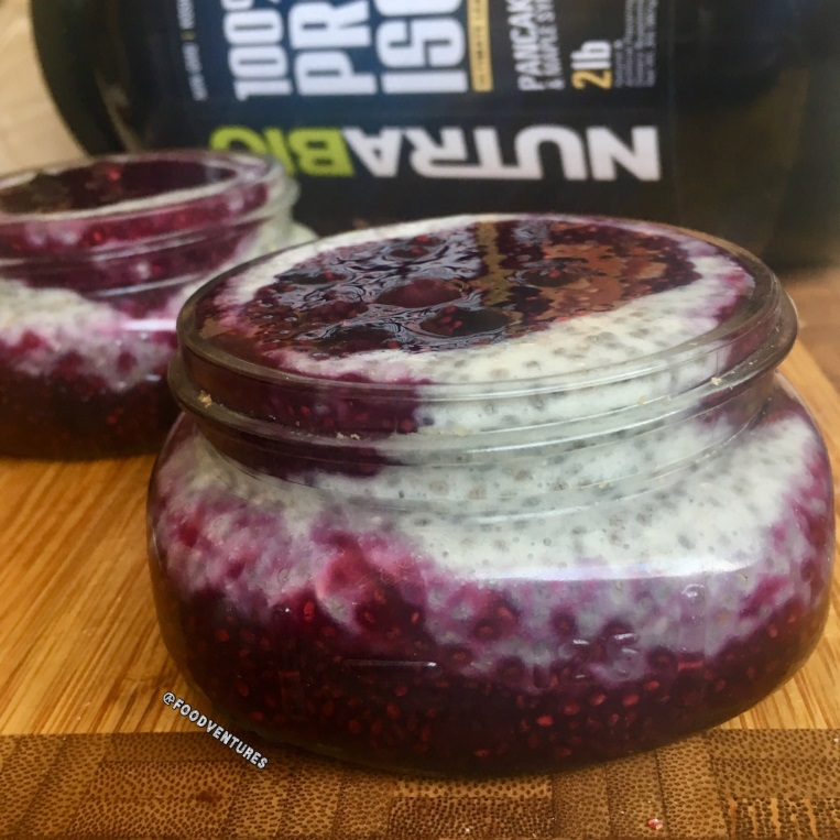 Blueberry Protein Chia Pudding - By Kristen Cappabianca