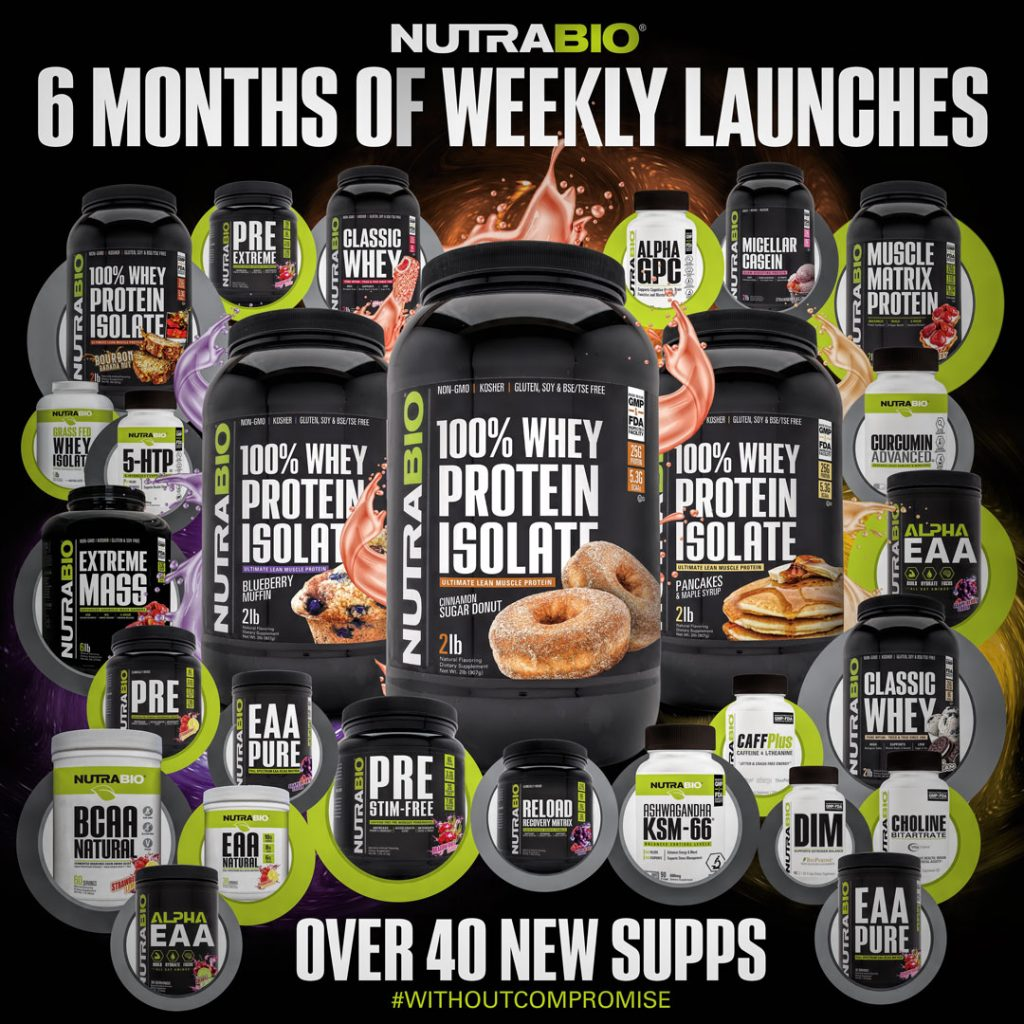 NutraBio Raises the Bar with 6 Months of Weekly Supplement