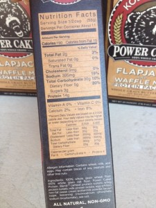 kodiak cakes label