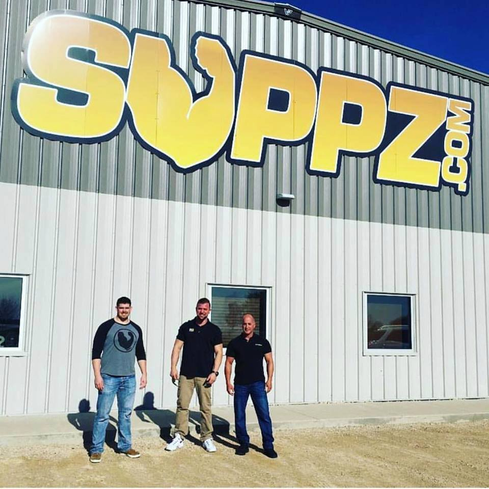 Jon Oates Of Suppz With Ben Kane Key Accounts Manager And Mark Glazier CEO Founder NutraBio